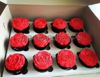 Капкейки - розы в подарочной упаковке