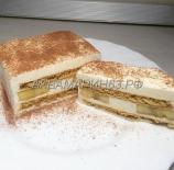 Торт медовый с ванильным муссом и бананом