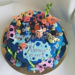 Торт морской тематики
