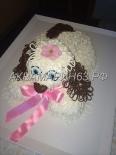 Торт в виде собачки