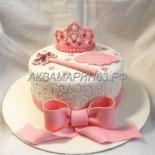 Торт с короной для принцессы
