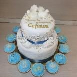 Большой торт на крещение, вес 7 кг