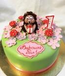 Торт с ёжиком и грибами девочке на годик