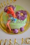 Красивый торт для девочки Фея Динь-Динь