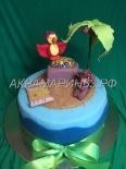 Торт Африка - попугай и обезьянка
