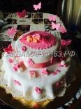 Тортик из мастики на 1 год девочке