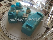 Торт-метрика на 1 год мальчику