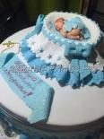Торт на крещение мальчика на заказ