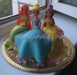 Детский торт с русалками