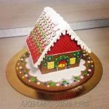 Цветной новогодний домик