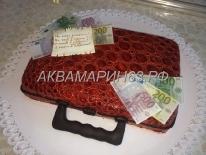 Торт - чемодан с деньгами