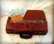 Торт - кейс с долларами