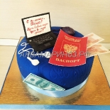 Торт на 14-летие, получение паспорта