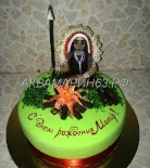 Торт с индейцем