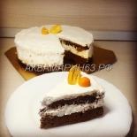 Торт Шоколадный в разрезе
