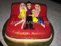 Торт для папы и мужа - счастливая семья