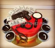 Торт шпион и капкейки бомбочки