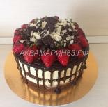 Шоколадный торт с нежным сливочным кремом