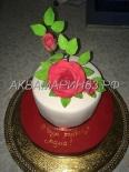 Торт для мамы с букетом роз. Сахарная флористика в Самаре
