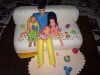 Торт - счастливая семья