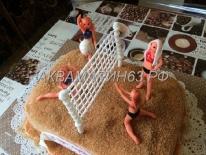 Торт для девушки - волейбол
