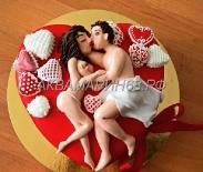 Торт для влюбленной пары