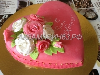 Торт с розами, заказ в Самаре