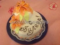 Торт по вашему дизайну на юбилей, лилии