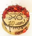 Торт на юбилей клиники Эко - 10 лет