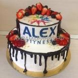 Торт с логотипом организации