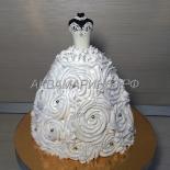 Торт на девичник - невеста в белом платье