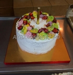 Торт Фантазия со свежими ягодами