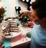 Торт для презентации в разрезе, начинка